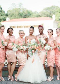 C Peach Bridesmaid Dresses Bridesmaids Wedding Attire Beautiful Bride Summer
