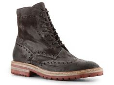 Santoni Distressed Leather Brogue Boot. #DSW, #LUXE810