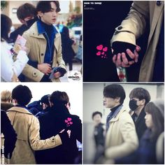 Onew holding onto Key 15-11-15 Gimpo Airport