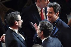 Pin for Later: This Is What Happens During Commercial Breaks at the Oscars John Travolta Chatted With Steve Carell and Mark Ruffalo