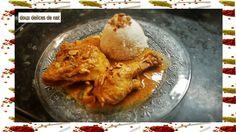 Ingrédients : 1,2 kg de poulet en morceaux 1 kg de patates douces 3 oignons 5 tomates coupées en dés 2 càs de concentré de tomates 2 cubes de bouillon de boeuf 4 càs de beurre de cacahuètes 1 piment oiseau Huile d'arachide Sel, poivre Préparation : Faire...