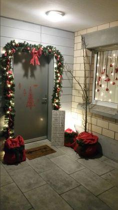 Eingang Weihnachten front door