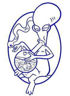 Roger Smith, American Dad – Graffiti World Trippy Drawings, Graffiti Drawing, Cool Art Drawings, Art Drawings Sketches, Drawings For Dad, Graffiti Tattoo, Pencil Drawings, Drugs Art, Doodle Art