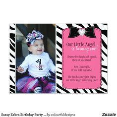 Shop Sassy Zebra Birthday Party Invitation created by colourfuldesigns. Birthday Party Invitations, Birthday Parties, Birthday Ideas, Zebra Print Birthday, Diva Design, Hold My Hand, Zazzle Invitations, First Birthdays, Sassy