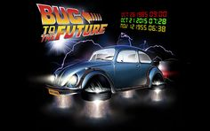 why shouldn't VW drivers time travel too? Beetle Bug, Vw Beetles, Hover Car, Volkswagen, Sci Fi Art, Time Travel, Travel Style, Vehicles, Future