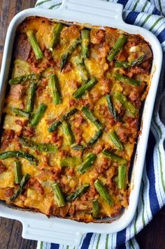 Overnight Egg and Breakfast Sausage Strata #recipe from justataste.com