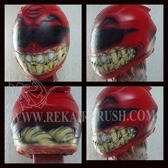 Rekairbrush Custom Airbrushed Motorcycle Helmet 465