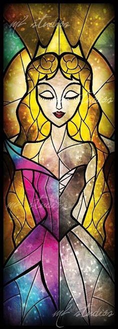 Disney Stained Glass - Aurora