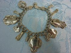 STERLING SILVERWARE CHARM  antique Bracelet with by PennysCastle, $200.00