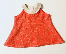 Crystal Clear Top for Girls Beige Top, Primary Colors, Girl Outfits, Etsy Shop, Crystals, Stylish, Children, Lace, Girls