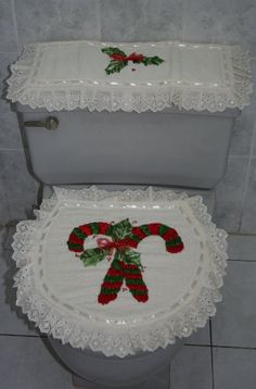 Juegos de baño the basement tapes - Basement Christmas Crafts, Christmas Decorations, Holiday Decor, Bathroom Sets, Ideas Para, Diy And Crafts, Shabby Chic, Merry, Quilts