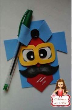 Cardboard Box Crafts, Foam Crafts, Diy And Crafts, Crafts For Kids, Arts And Crafts, Paper Crafts, Art Activities For Toddlers, Gift Wraping, Dad Day