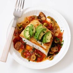Want a lean dinner that has South of the border flavors? Then try this Halibut Veracruz Recipe. Delicious!