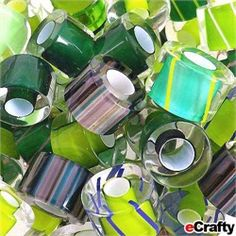 ECRAFTY - Cane Furnace Glass Beads ~ just a few dangled on a chain or cable bracelet - delightful!