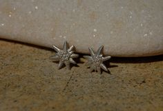 Edelweiss Stud Earrings Sterling Silver Jewelry