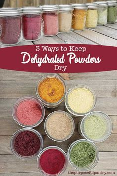 5 Ways to Keep Dehydrated Powders From Clumping Don't let your hard work go to waste! Learn three ways to keep your dehydrated powders dry and safe for food storage to enjoy year round! Homemade Spices, Homemade Seasonings, Dehydrated Vegetables, Dehydrated Food Recipes, Plat Vegan, Do It Yourself Food, Canning Recipes, Freezer Recipes, Freezer Cooking