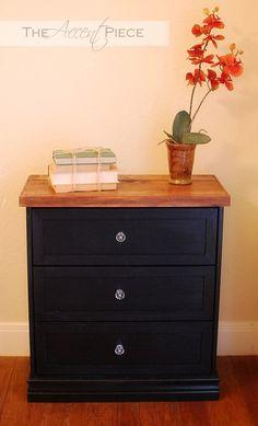 Rast Hack. $34.99 IKEA Rast dresser, painted & stained.