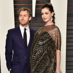 Ann Hathaway looked stunning in our gold prism chandelier earrings at Oscars 2016 after party! #Forziani #Designer #Oscars