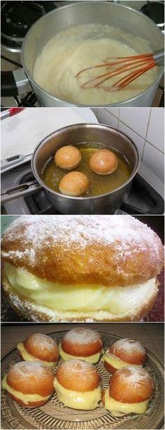 Sonho da Vovó….muito Fácil de Preparar VEJA AQUI>>>Coloque numa bacia todos os ingredientes secos e misture. Acrescente os ovos levemente batidos, a manteiga e o leite.Sove sobre superfície lisa, polvilhando a farinha. #receita#bolo#torta#doce#sobremesa#aniversario#pudim#mousse#pave#Cheesecake#hocolate#confeitaria