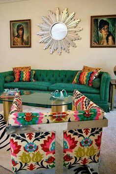 Simple and Stylish Ideas Can Change Your Life: Home Decor Inspiration Farmhouse Style indian home decor british colonial.Home Decor Contemporary House Plans easy home decor living room.Modern Home Decor Scandinavian. Funky Home Decor, Home Decor Shops, 70s Decor, Colorful Decor, Home Interior, Interior Design, Interior Livingroom, Design Room, Interior Decorating