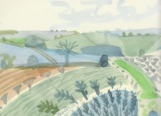 I love the beautifully simple watercolour sketches by David Hockney from his book 'A Yorkshire sketchbook.' I bought the book in the Art bookstore Walther König, on Burgstrasse, on a tr…