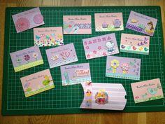 Tarjetas personales para niñas
