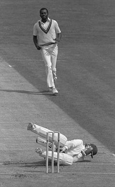 Malcolm Marshall kills another batsman, 1984.