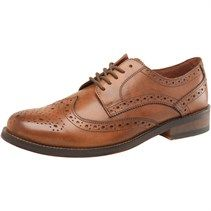 Onfire Mens Derby Brogue Shoes Tan