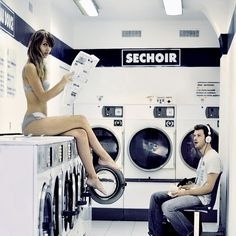 laundromat poses for a photoshoot - Google Search