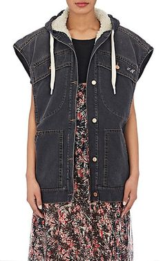 We Adore: The Celef Faux-Shearling-Lined Hooded Vest from Isabel Marant Étoile at Barneys Warehouse