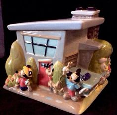Casa-De-Mickey-Urban-House-Cookie-Jar-Mickey-Minnie-Goofy-Donald-Pluto-Fab-5-MIB