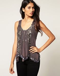 Scalloped Beaded Top