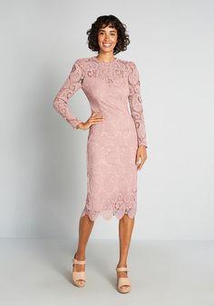 Fruit dress Search Results | ModCloth Midi Dress With Sleeves, Long Sleeve Midi Dress, High Neck Dress, Cute Dresses, Vintage Dresses, Formal Dresses, Mid Length Skirts, Pretty Outfits, Sheath Dress