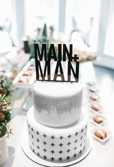 Asher's first black and white modern birthday party 2 Tier Birthday Cakes, 32 Birthday, First Birthday Cakes, First Birthday Parties, First Birthdays, Birthday Ideas, Birthday Sayings, Birthday Images, Birthday Greetings
