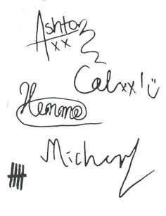 5 Seconds Of Summer signatures