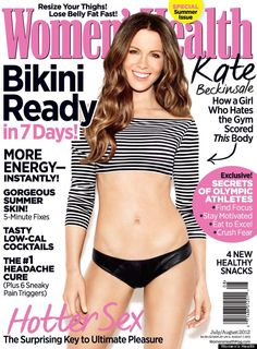 Kate Beckinsale: Toned Tummy on 'Women's Health' Cover!: Photo Kate Beckinsale shows off her fit physique on the cover of Women's Health's July/August 2012 cover, on newsstands June Here's what the English… Kate Beckinsale, Losing Weight Tips, How To Lose Weight Fast, Weight Loss, Loose Weight, Reduce Weight, Lose 50 Pounds, Losing 10 Pounds, 5 Pounds