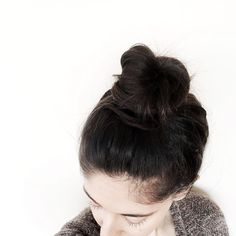 When a girls got that top knot going on a Friday afternoon you know shes moving to get work down  start on that weekend