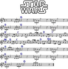 """Star Wars """"main title"""" by John Williams, cicrca Funny, its kinda like """"Born free"""" played inverted. Saxophone Sheet Music, Cello Music, Piano Sheet Music, Violin Lessons, Music Lessons, Partition Disney, Trumpet Sheet Music, Easy Sheet Music, Piano Songs"""
