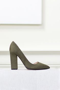 D'Orsay Heel - Stealth Army Green | Emerson Fry