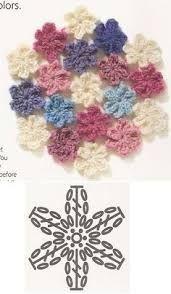 crochet flower patterns crochetflower crochet crochetaddict crocheting crochetlove ganchillo hkeln tejer tejidos tejido uncinetto virka - duck c Appliques Au Crochet, Crochet Motifs, Crochet Diagram, Crochet Chart, Love Crochet, Irish Crochet, Crochet Lace, Crochet Stitches, Easy Crochet