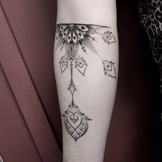 Delicate Dot Work Arm Tattoo