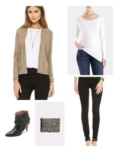 Loving this neutral real leather jacket. It is a great price for real leather!
