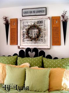 Creative Ways How To Use Old Windows. Shutters on either side a great touch.