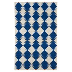 Anchor your living room seating group or define space in the den with this hand-woven wool rug, featuring a Southwestern-inspired diamond motif for eye-catch...
