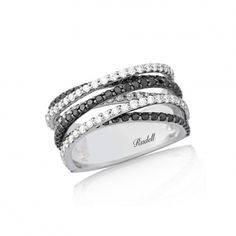 18ct White Gold black and white diamond ring http://www.rudells.com/