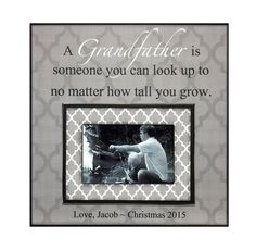 items similar to grandfather gift from grandchild picture frame for grandpa personalized photo frame papa picture frame for christmas no matter how