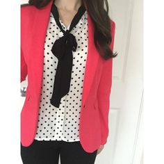 Hot Pink Blazer Hot pink blazer! Great for work or play- so comfortable and flattering. Only worn once for about an hour and in perfect condition! Pairs perfectly with the black work pants I have listed in my closet- bundle and save  H&M Jackets & Coats Blazers