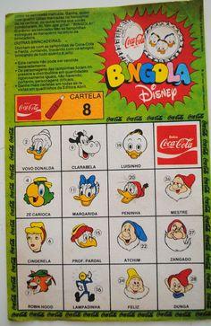Febre!! Todo mundo coleciona a as tampinhas!! 1977 / 1978 cartela Bingola Disney: