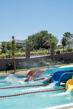 Euphoria Resort, Chania, Crete, Greece - In a specially designed area, supervised by trained personnel, kids can find exciting games to exhaust their energy, make new friends, laugh and enjoy their vacation. Top-of-the-range water slides (4 fast slides) fulfilling all safety measures and a huge swimming pool are the ultimate entertainment for your family. Waterfalls and adventurous towers are the magical scenery for kids and adults, to experience magnificent moments. In the waterpark you can… Crete Greece, Water Slides, Make New Friends, Quality Time, Other People, Fun Activities, Swimming Pools, Scenery, Beer