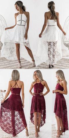 Winter ball dresses - White Cut Out Detail Lace HiLo Dress – Winter ball dresses Blush Prom Dress, Hoco Dresses, Dance Dresses, Homecoming Dresses, Cute Dresses, Beautiful Dresses, Evening Dresses, Summer Dresses, Semi Formal Dresses